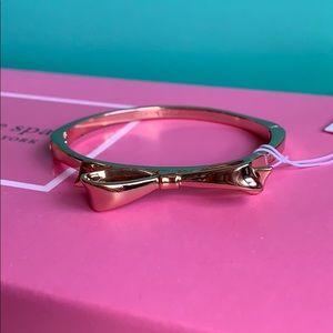 Kate Spade rose gold bow bangle